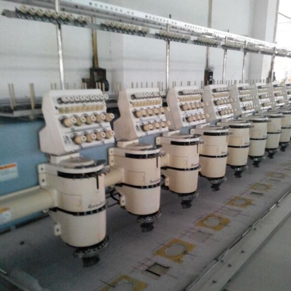 Barudan 9-Needles 18-Head Computerized Japanese Embroidery Machine - (Used)